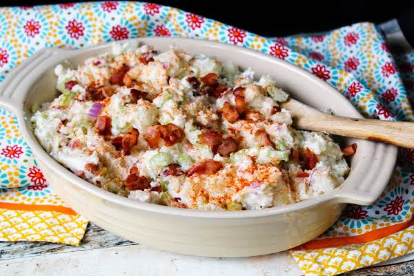 Paprika Sprinkled Over Momma's German Potato Salad.