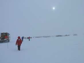Photo: A long line of racers headed toward Summer Camp