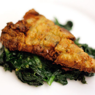 Fish Fillets with Spicy Green Undercoat.
