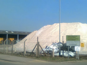 Photo: A pyramid of rock salt coming early for next winter in the East Lindsey Council yard on Hemingby Lane Horncastle.