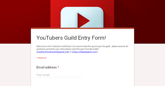 YouTubers Guild Entry Form!