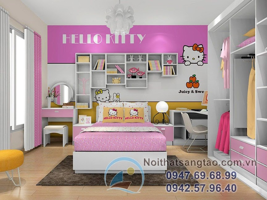 thiết kế phòng ngủ bé gái đẹp 6