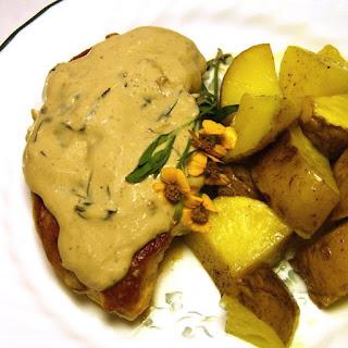 Chicken in (Non-Dairy) Tarragon Cream Sauce