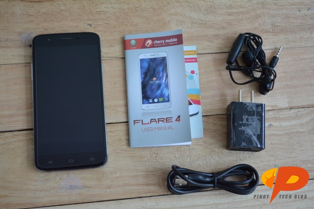 Cherry Mobile Flare 4 Review bundled accessories