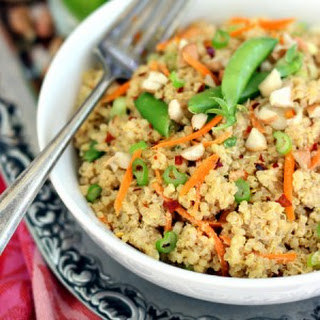 Creamy Quinoa Thai Salad with Peanut butter + Lime Dressing (vegan, grain free, gluten free)