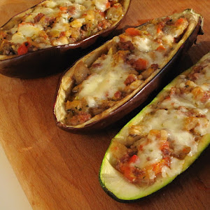 Stuffed Eggplant and Zucchini