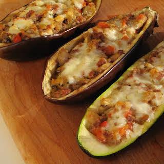 Stuffed Eggplant and Zucchini.