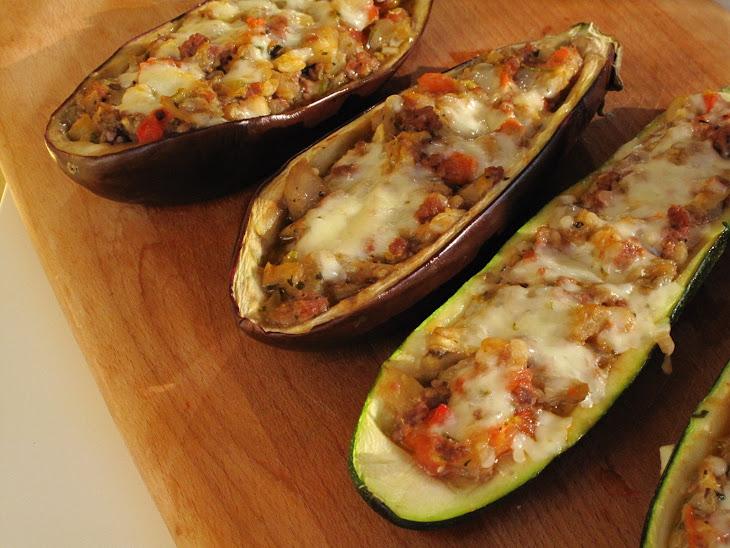 Stuffed Eggplant and Zucchini Recipe
