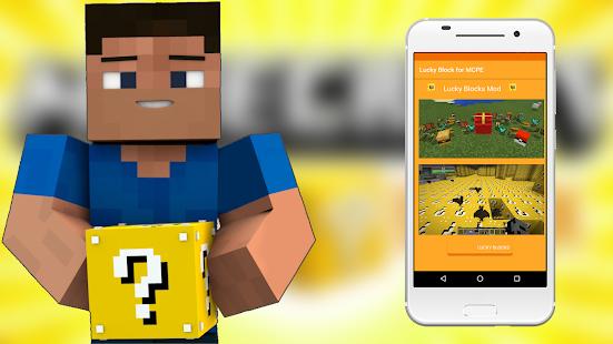 Lucky block Mod for pocket edition Ekran Görüntüsü