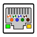 Ethernet RJ45 - wiring connector pinout and colors icon