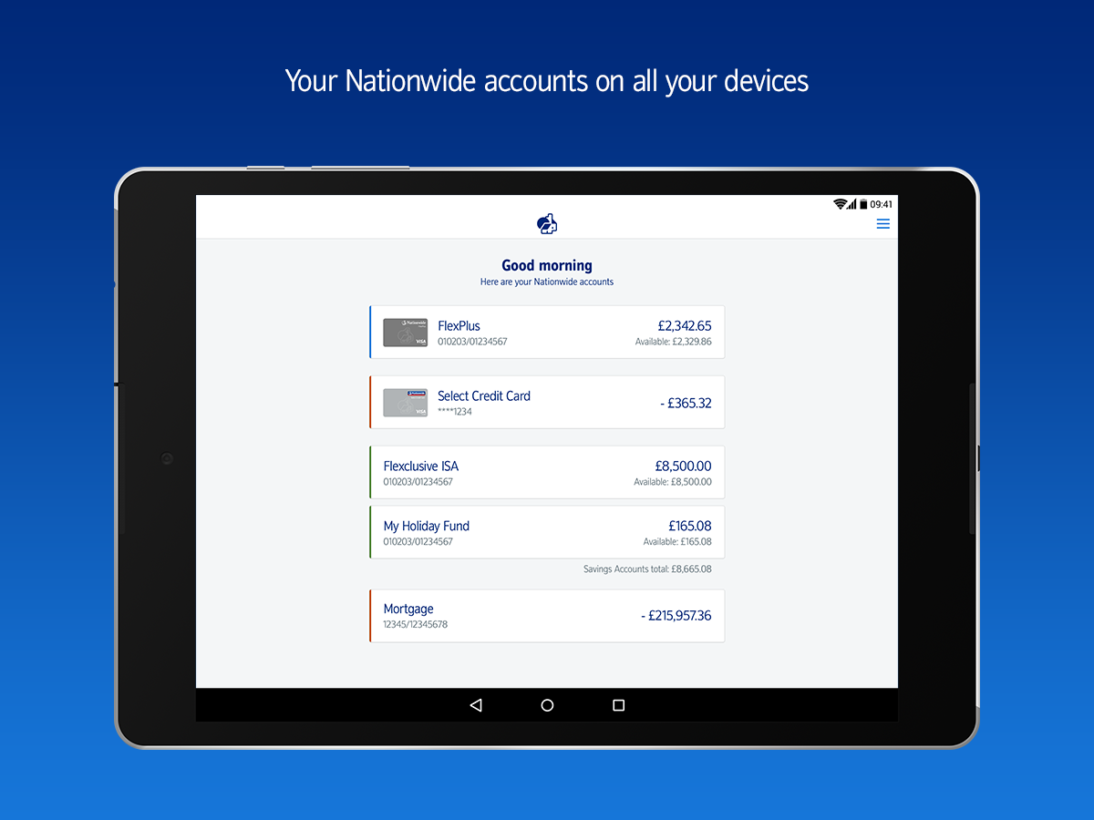 Nationwide Banking App- screenshot