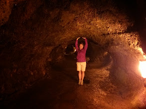 Photo: Walking through the lava tubes in Volcanoes National Park