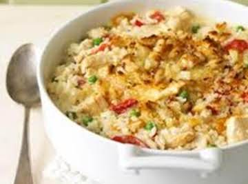 Chicken alfredo and Rice Casserole