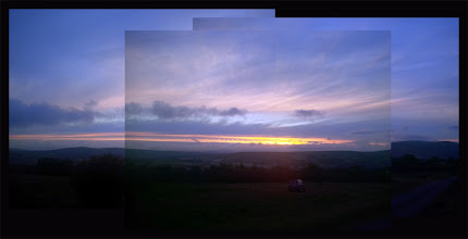 Photo: Amazing sunset last night over Dartmoor, but only had the Blackberry Z10 as I had forgotten my camera at the office.