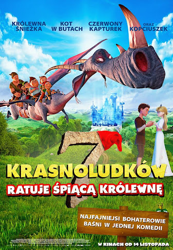 Polski plakat filmu '7 Krasnoludków Ratuje Śpiącą Królewnę'