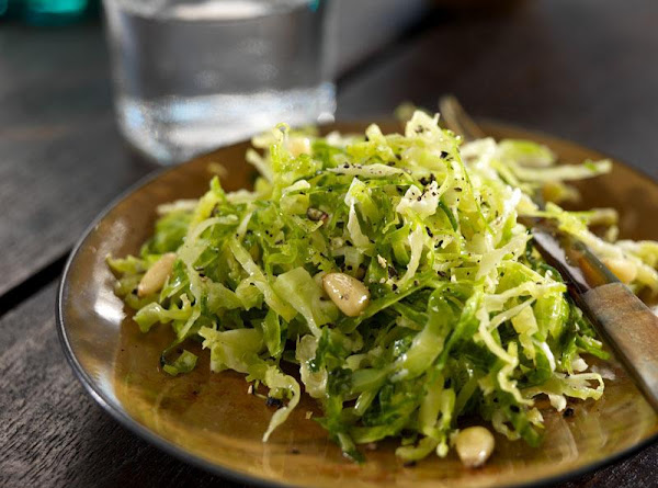 Shaved Brussels Sprout Salad W/pine Nuts & Lemon Recipe