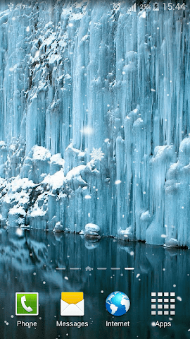 android Frozen Waterfall HD Wallpaper Screenshot 3