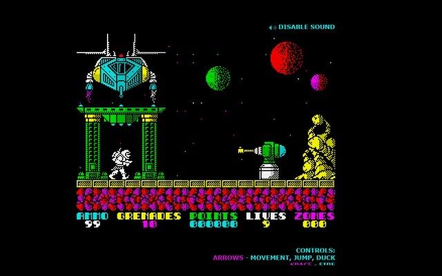 Exolon classical 1980 game