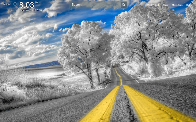 Road Wallpapers Theme New Tab