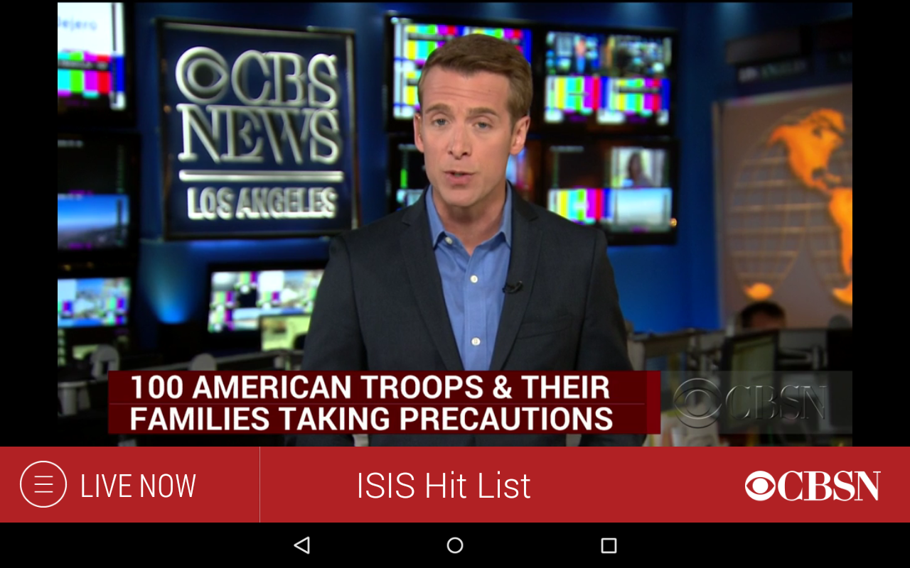 CBS News: captura de pantalla