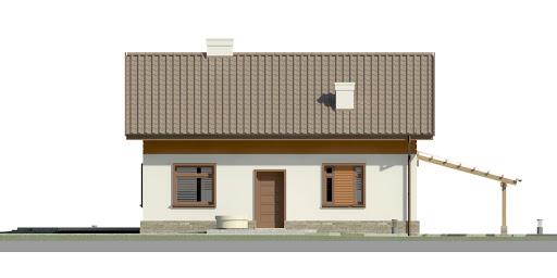Dom przy Imbirowej 4 - Elewacja przednia
