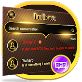 Gold SMS Messenger Theme