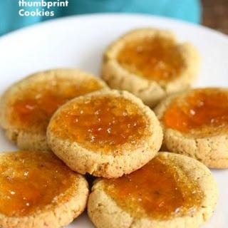 Pistachio Apricot Thumbprint Cookies