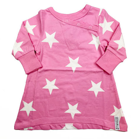 Geggamoja Babydress Pink Star