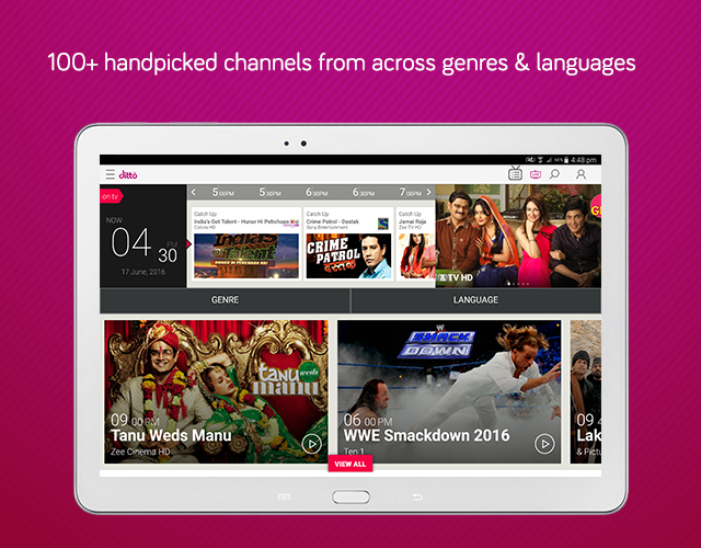 dittoTV: Live TV shows channel- screenshot