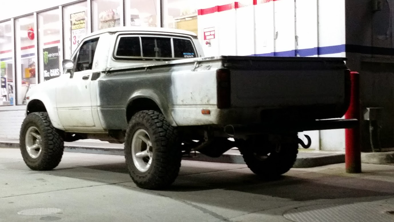79 Toyota Pickup suspension swap to 84+ suspension swap to ...