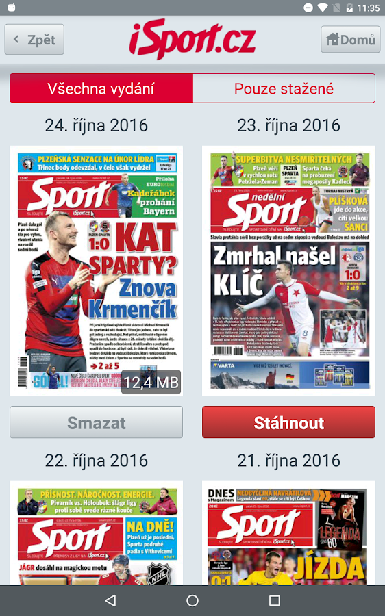 iSport.cz- screenshot