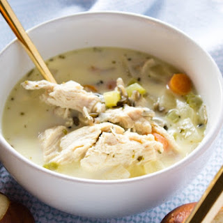 Slow Cooker Chicken & Wild Rice Soup.