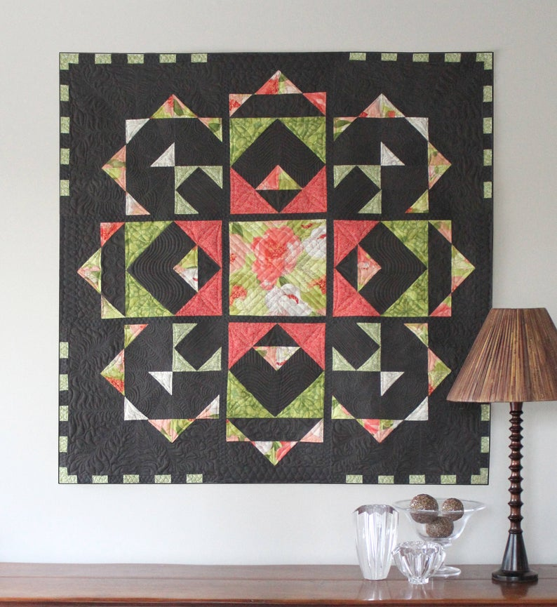two square garden wall quilt pattern