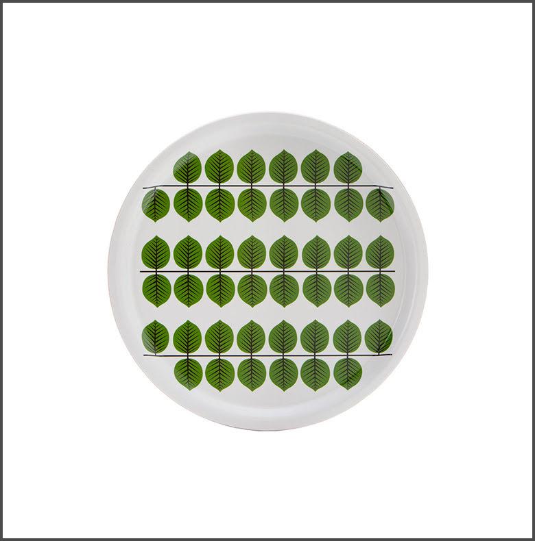 Bricka Berså rund grön