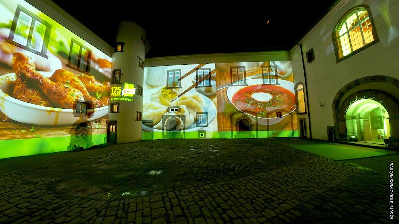 Photo: Fassadenprojektion für Knorr