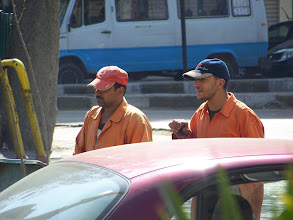 Photo: These guys were always out cleaning the streets and stuff (from prison).  A lot of good it did too, those streets were sparkling clean!