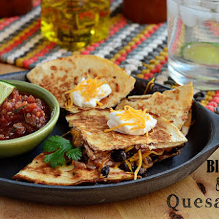 Black Bean & Cheese Quesadillas.