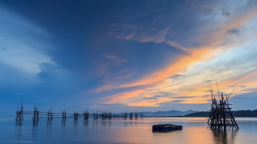 Sunrise at Buntal Fishing Village by Nuar Zack - Landscapes Sunsets & Sunrises