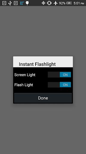 Instant Flashlight