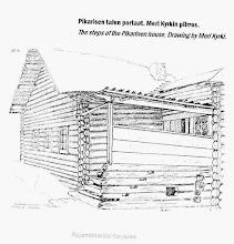 Photo: Pikarisen talon portaat-Meri Kyrkin piirros