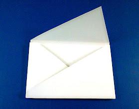 Photo: Envelope com 75mm de altura.