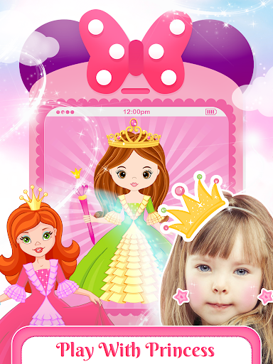 Pink Little Talking Princess Baby Phone Kids Game screenshot 6