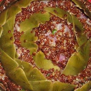 Stuffed Artichokes With Red Quinoa and Brillat-Savarin Cheese