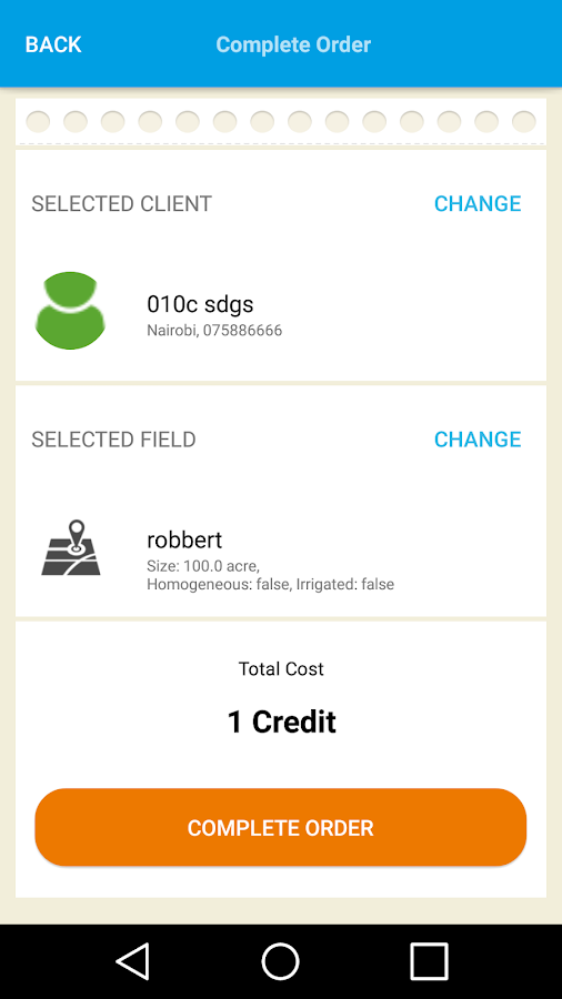 SoilCares/HLB bekalkings App- screenshot