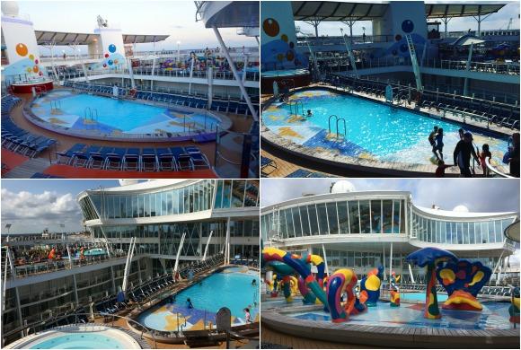 Pools on Oasis of the Seas
