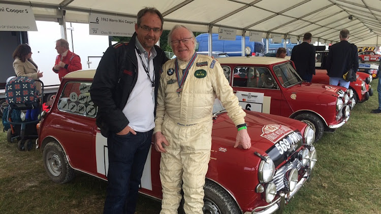 Famous 1960s Mini rally driver Rauno Aaltonen with the Motor News editor. Picture: MARK SMYTH