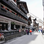 Zermatt shopping street in Switzerland in Zermatt, Valais, Switzerland