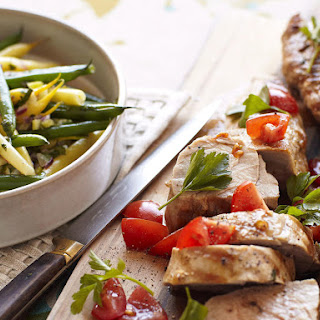 Pork Loin with Warm Bean Salad