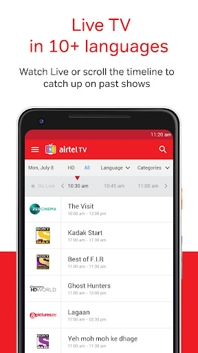 Airtel TV: Movies, TV series, Live TV for PC