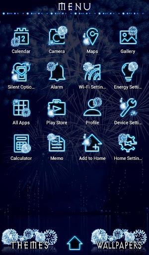 Cool Wallpaper Blue Fireworks Theme 1.0.0 Windows u7528 2
